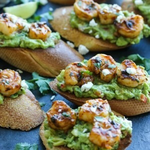 chili lime shrimp crostinis