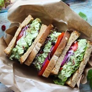 Green Goddess Chicken Salad Sandwiches