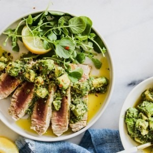 Picture of prepared tuna salad verde