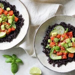 Watermelon Sesame Poke Bowls