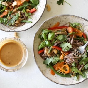 Soba Noodle Salad with Sesame-Cashew Sauce