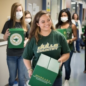 USF students volunteering at the hospital