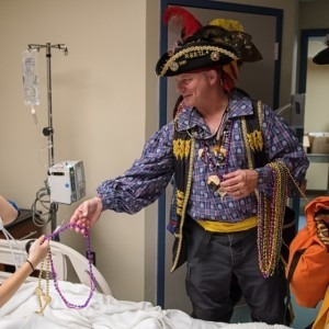 Pirates visit patient in the hospital