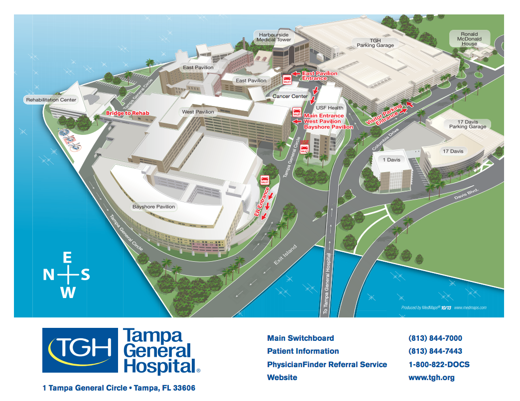 Campus Map Tampa General Hospital - Usf location map