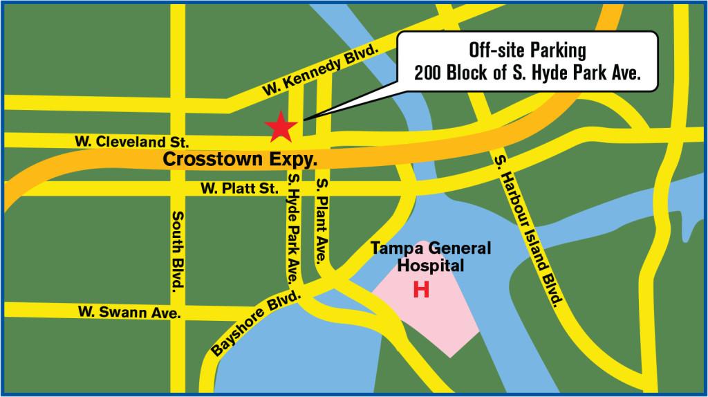 Tampa General Hospital Parking Map