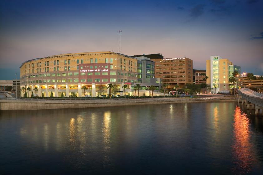 Exterior of Tampa General Hospital