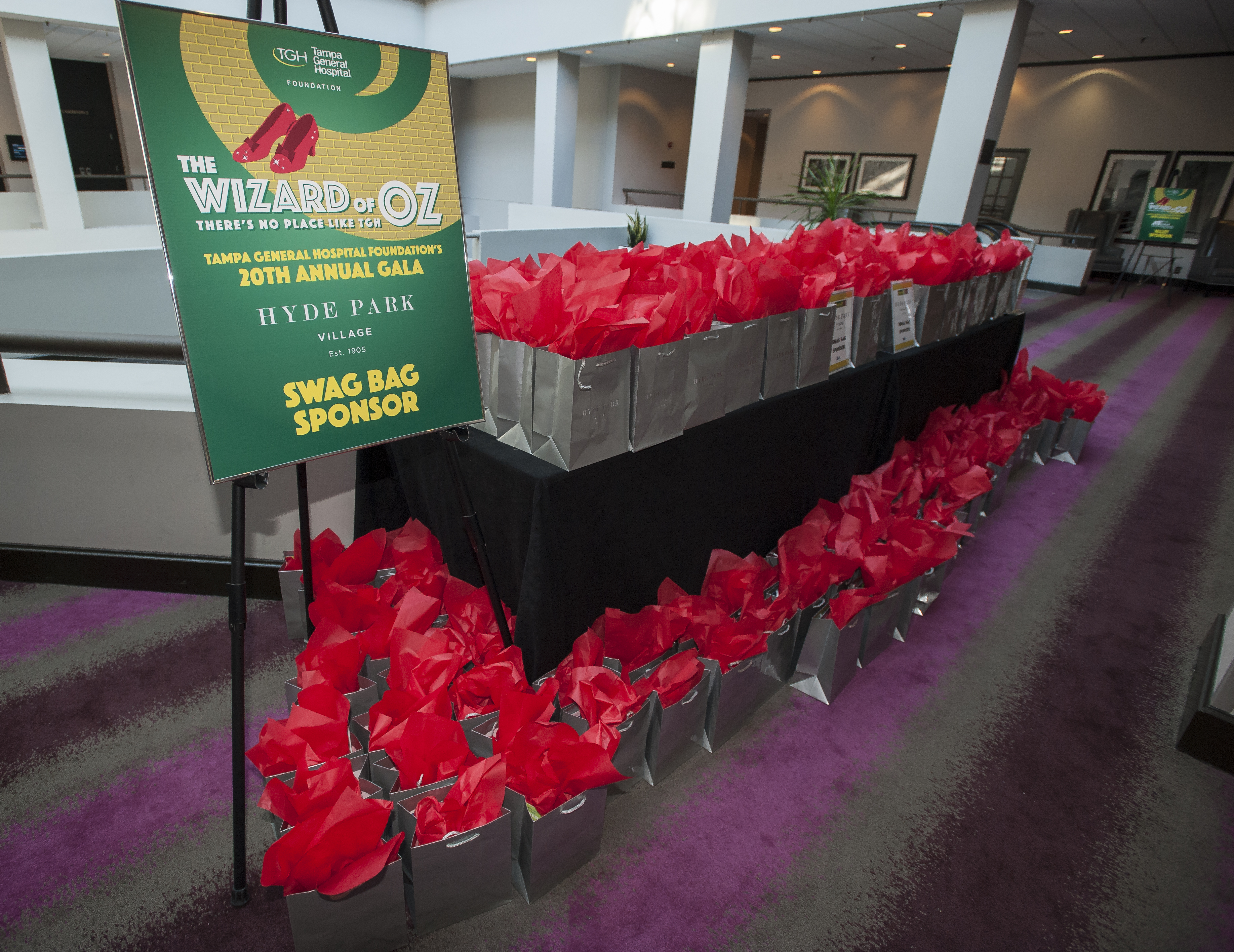 Wizard of Oz gala swag bags