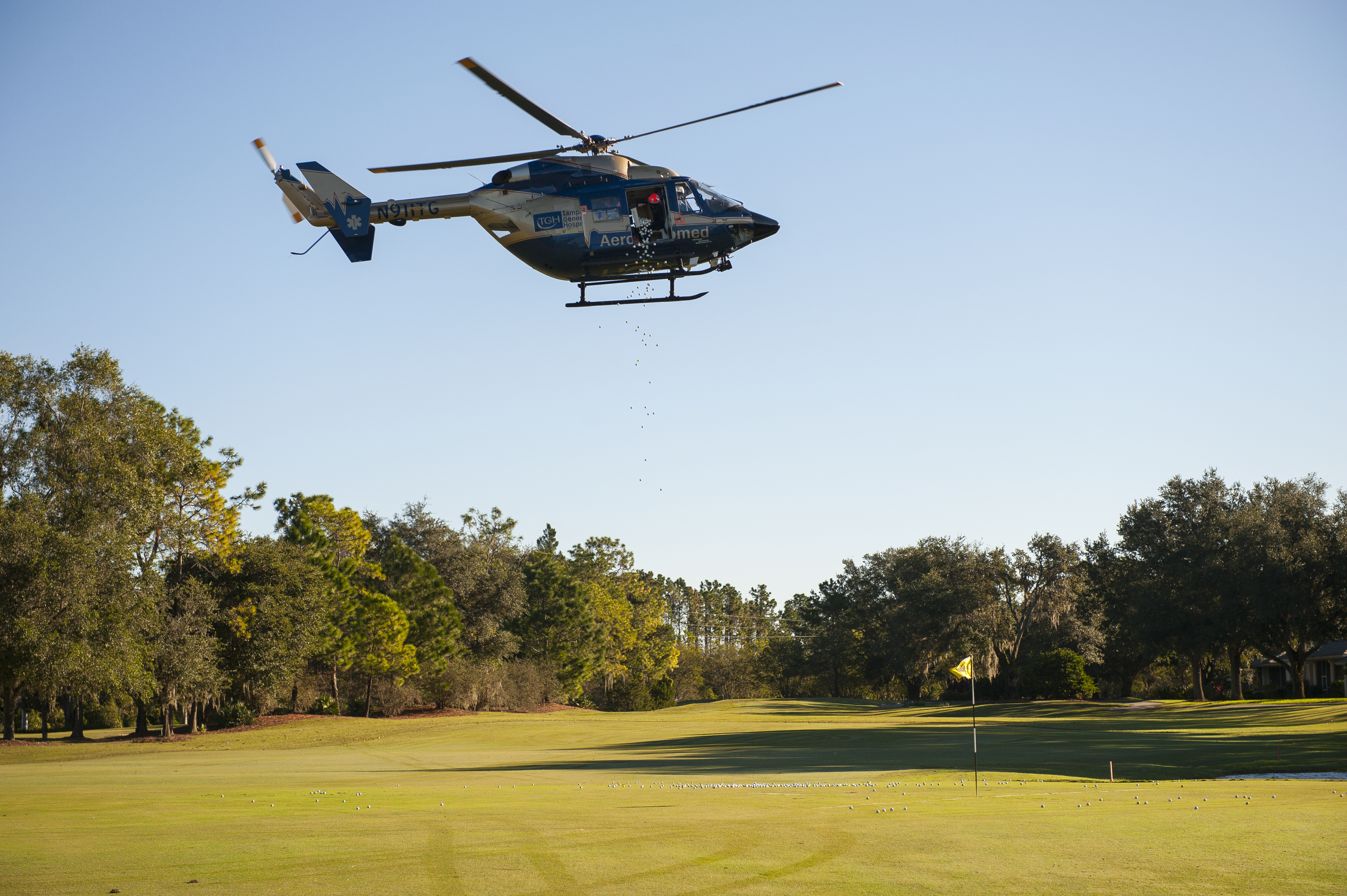 TGH Golf Tournament Helicopter Ball Drop