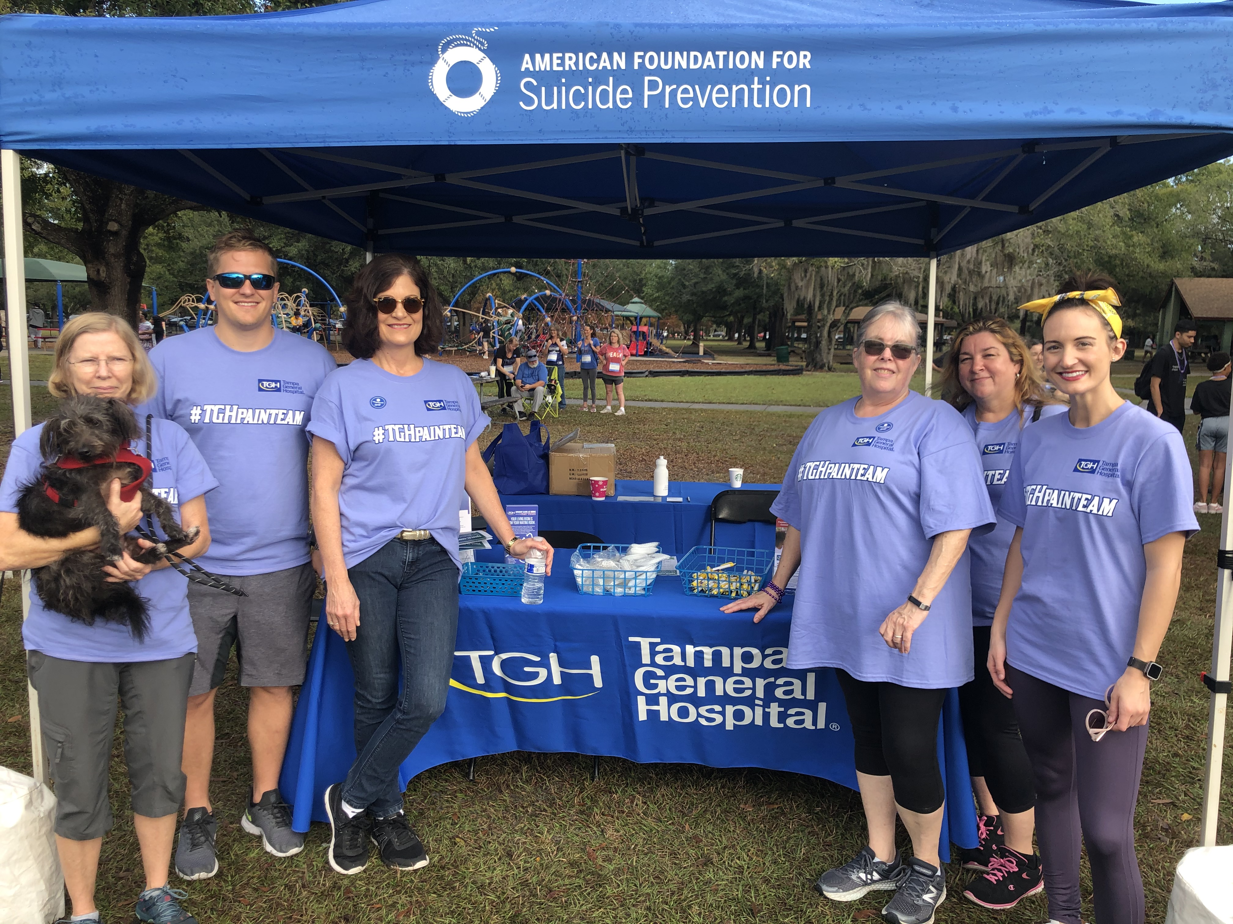 12/14/19 Out of the Darkness Suicide Prevention Walk supporting American Foundation for Suicide Prevention