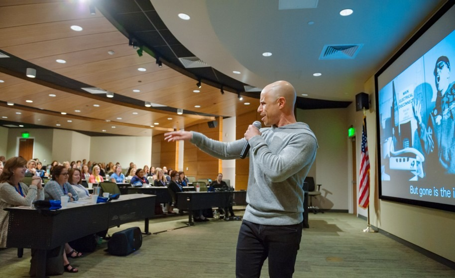 ZDoggMD giving a lecture
